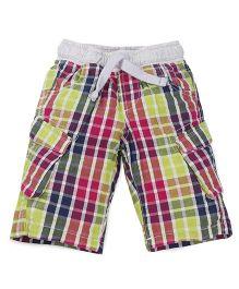 Mothercare Checks Shorts - Multicolor