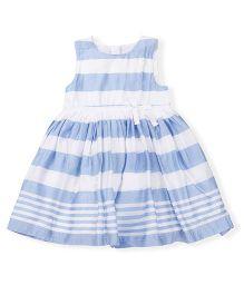 Mothercare Sleeveless Stripes Frock - White Blue