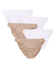 Mothercare Maternity Panties Set of 5 - Beige & White