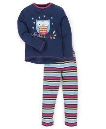 Mothercare Clothing Set T-shirt And Pajama - Navy Blue