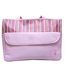 Kiwi Diaper Bag Multi Colour Stripes - Pink