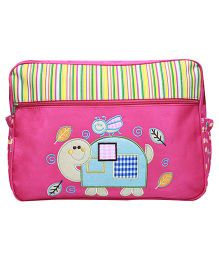 Kiwi Diaper Bag Bee and Tortoise Embroidery - Pink