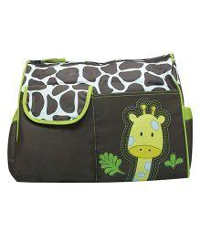 Kiwi Diaper Bag Giraffe Print - Green