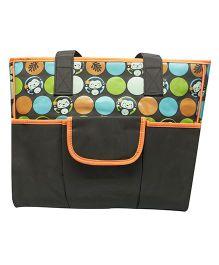 Kiwi Diaper Bag Cute Monkey Print - Orange