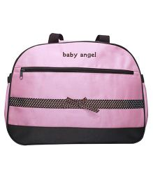 Kiwi Diaper Bag Baby Angel With Ribbon Bow - Pink