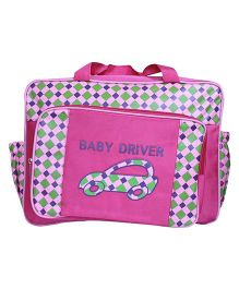 Kiwi Diaper Bag Smart Car Print - Pink