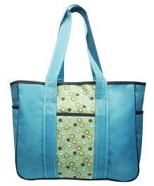 Kiwi Diaper Bag Abstract Circle Prints - Blue