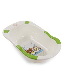 Babyhug Baby Bath Tub - Cream and Green