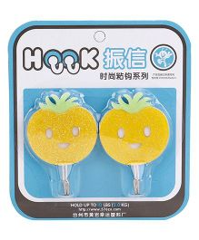 Wall Hooks Tomato Design Pack of 2 - Yellow