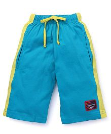 Taeko Three Fourth Bermuda Pant With Patch - Blue