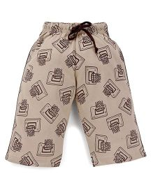 Taeko Shorts Basket Print - Brown