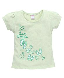 Tango Short Sleeves Printed Top - Light Green