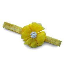 Little Miss Cuttie Trendy Pearl Headband - Yellow