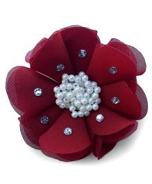 Little Miss Cuttie Elegant Hairclip - Maroon
