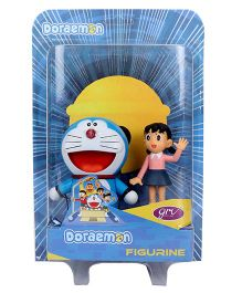 Doraemon And Shizuka Action Figurine 2 in 1 Pack Blue - 7 cm