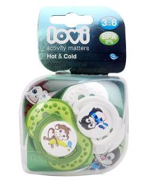 Lovi Dynamic Hot And Cold Silicone Soother - Green
