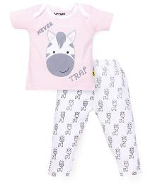 Tiny Bee Girls Infant Wear Envelope Tee & Legging Set - Pink