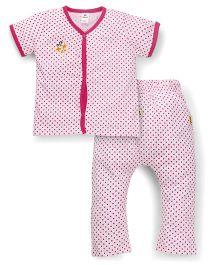 Tiny Bee Short Sleeve Tee & Legging Set - Pink