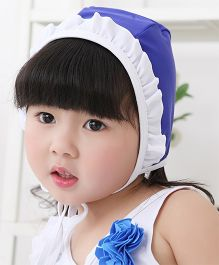 Dazzling Dolls Set Of Two Ruffled Swimsuit With Cap - Blue