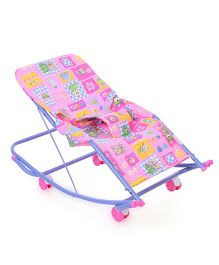 Mothertouch Swing Cum Rocker Teddy & Floral Print - Pink