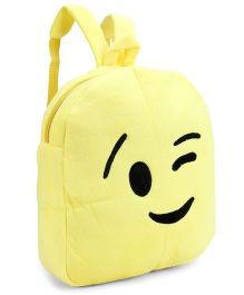 Smiley Face Baby Bag - Yellow