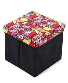 Floral Print Baby Storage Box - Pink Red