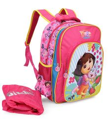 Dora Backpack Pink - 16 Inches