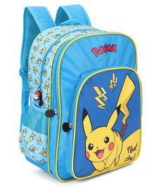 Pokemon Pikachu Backpack Blue - 16 Inches