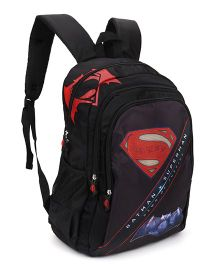 DC Comics Batsup Teen Clash Of Heroes Backpack Black - 18 Inches