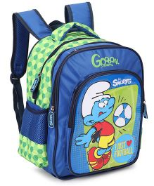 Smurfs Football Backpack Blue - 14 Inches