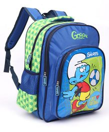 Smurfs Football Backpack Blue - 16 Inches