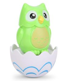 Baby Roly Poly Toy Owl Shaped - Green