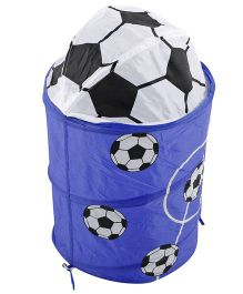 Foldable Storage Bag Football Design Blue White - 60 cm