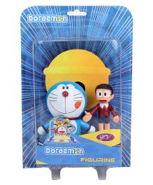 Doraemon And Nobita Action Figurine 2 In 1 Pack Blue Maroon - 9 cm