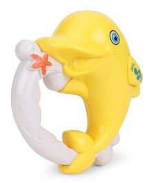Dolphin Shape Musical Rattle - Yellow White
