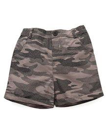 Beebay Camouflage Print Shorts - Khaki