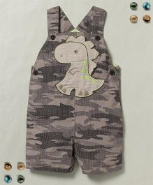 Beebay Dungaree Camouflage Print - Khaki & Multi Color