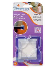 Dreambaby Corner Cushion For Glass Pack Of 4 - White