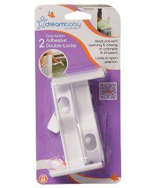 Dreambaby Adhesive Double Locks Pack Of 2 - White