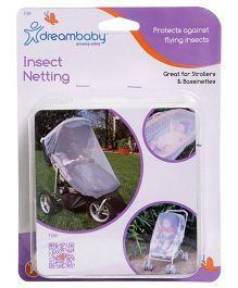 Dreambaby Stroller & Bassinet Insect Netting - White