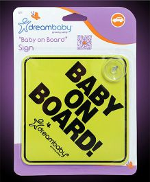 Dreambaby Baby On Board Sign - Yellow