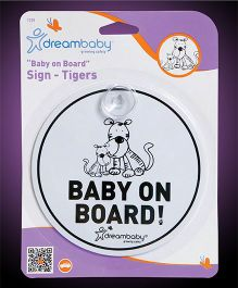 Dreambaby Round Baby On Board Sign - White