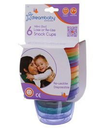 Dreambaby Snack Cups Pack Of 6 - Multi Color