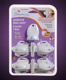 Dreambaby Adhesive Mag Lock - White