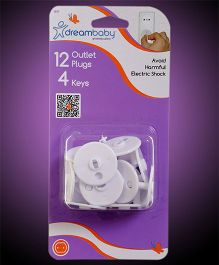 Dreambaby Outlet Plugs 5 Amp Plug Points - White