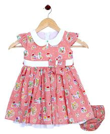 Bella Moda Beach Inspired Dress With Nappy Cover - Peach