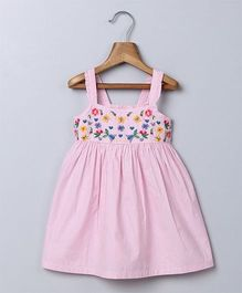 Beebay Singlet Embroidered Sun Dress - Light Pink