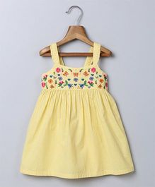 Beebay Singlet Embroidered Sun Dress - Yellow