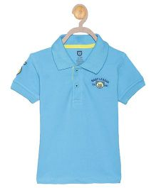 612 League Half Sleeves T-Shirt Teddy Embroidery - Blue