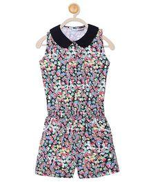 612 League Sleeveless Jumpsuit Floral Print - Multi Color